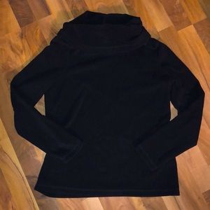 Black Funnel Neck Sweatshirt